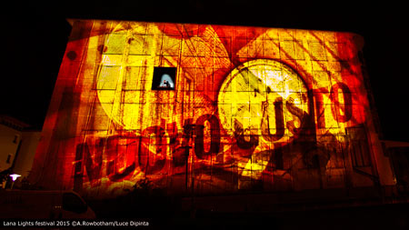 Outdoor projections on buildings